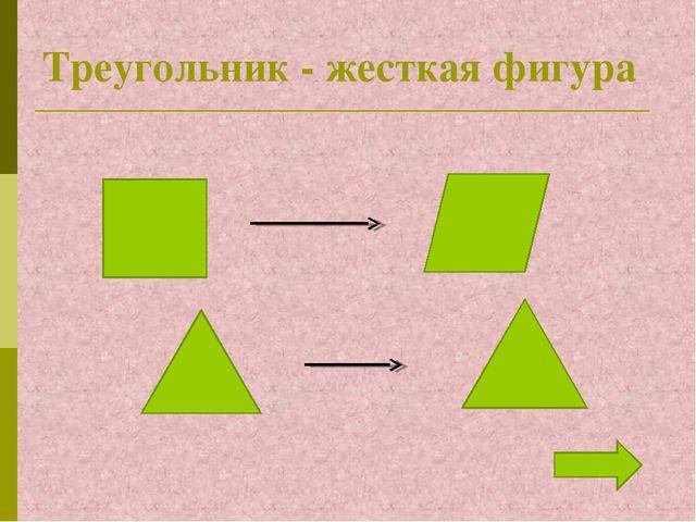 Треугольник - жесткая фигура