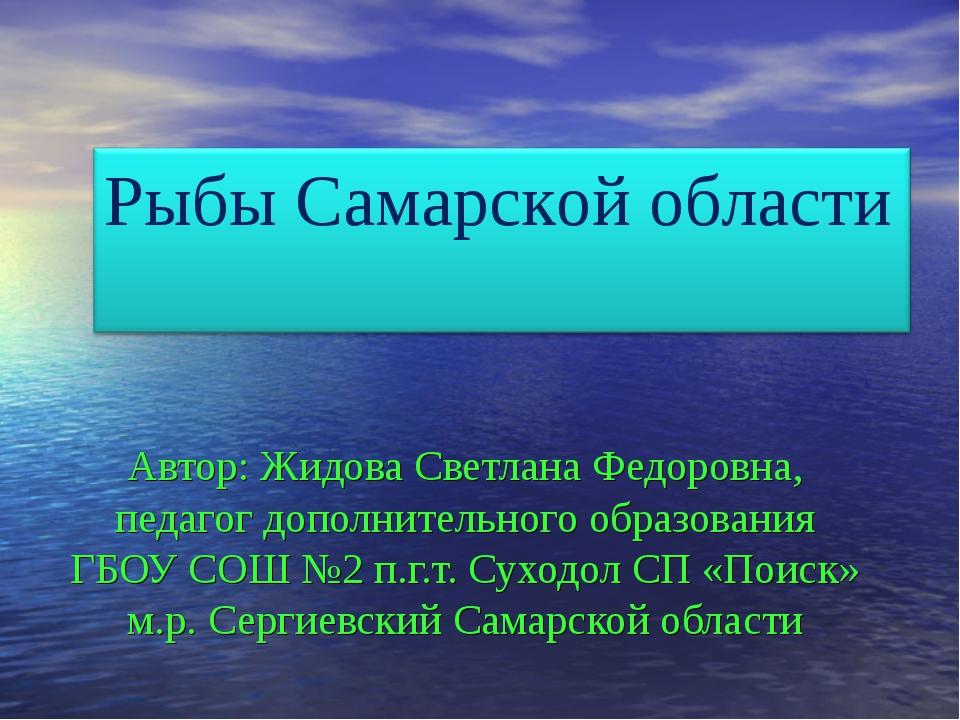 Автор: Жидова Светлана Федоровна, педагог дополнительного образования ГБОУ С...