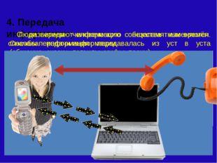 4. Передача информации; Люди передают информацию с незапамятных времён. Снач