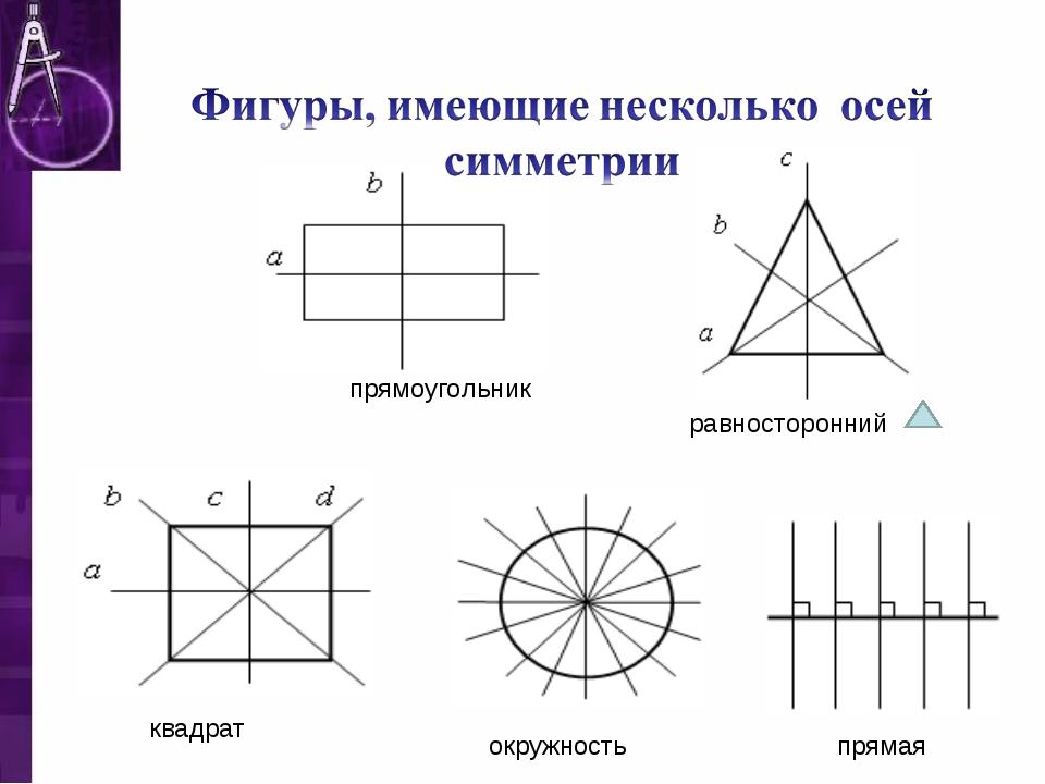 прямоугольник квадрат равносторонний окружность прямая