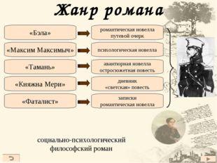 Жанр романа романтическая новелла путевой очерк психологическая новелла авант