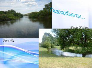 Гидрообъекты… Река Ик Река Кидаш