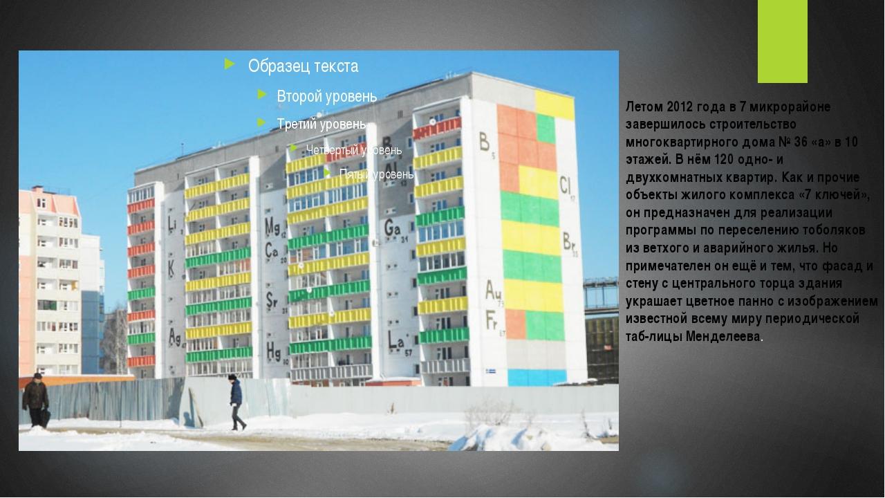 Летом 2012 года в 7 микрорайоне завершилось строительство многоквартирного до...