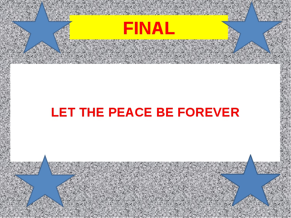 LET THE PEACE BE FOREVER FINAL