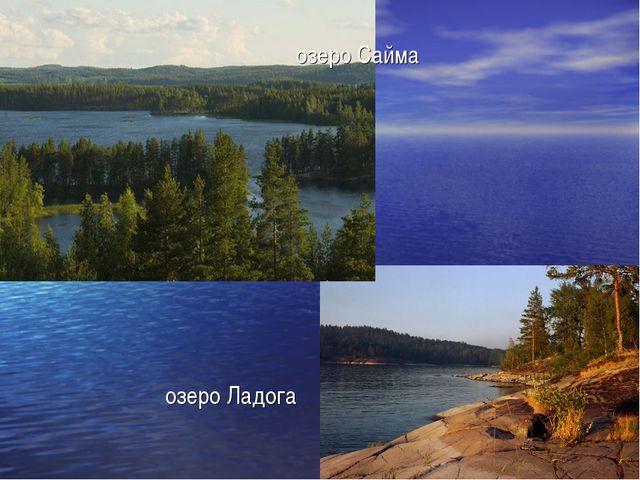 озеро Сайма озеро Ладога