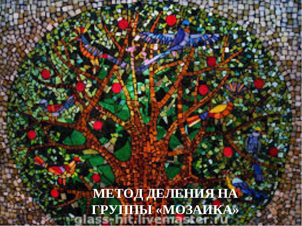 МЕТОД ДЕЛЕНИЯ НА ГРУППЫ «МОЗАИКА»