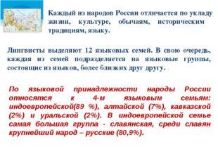 Каждый из народов России отличается по укладу жизни, культуре, обычаям, истор