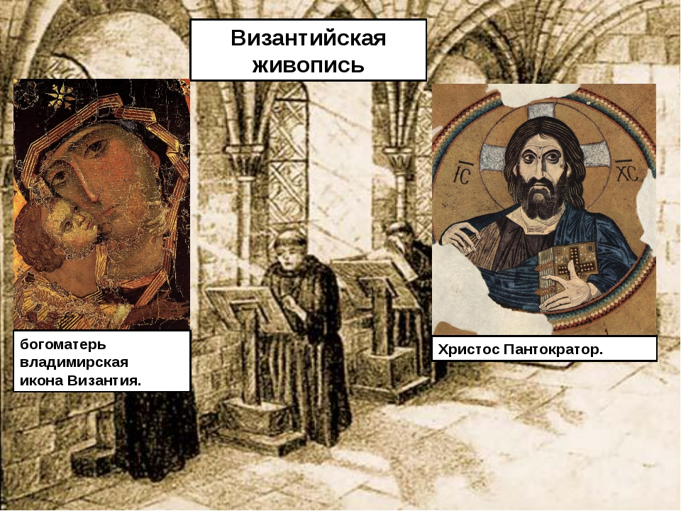 Византийская живопись богоматерь владимирская иконаВизантия. Христос Панток...