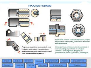 Виды1 Виды2 Сечения Виды сечений Разрезы Виды разрезов Простые + Простые 1 Пр