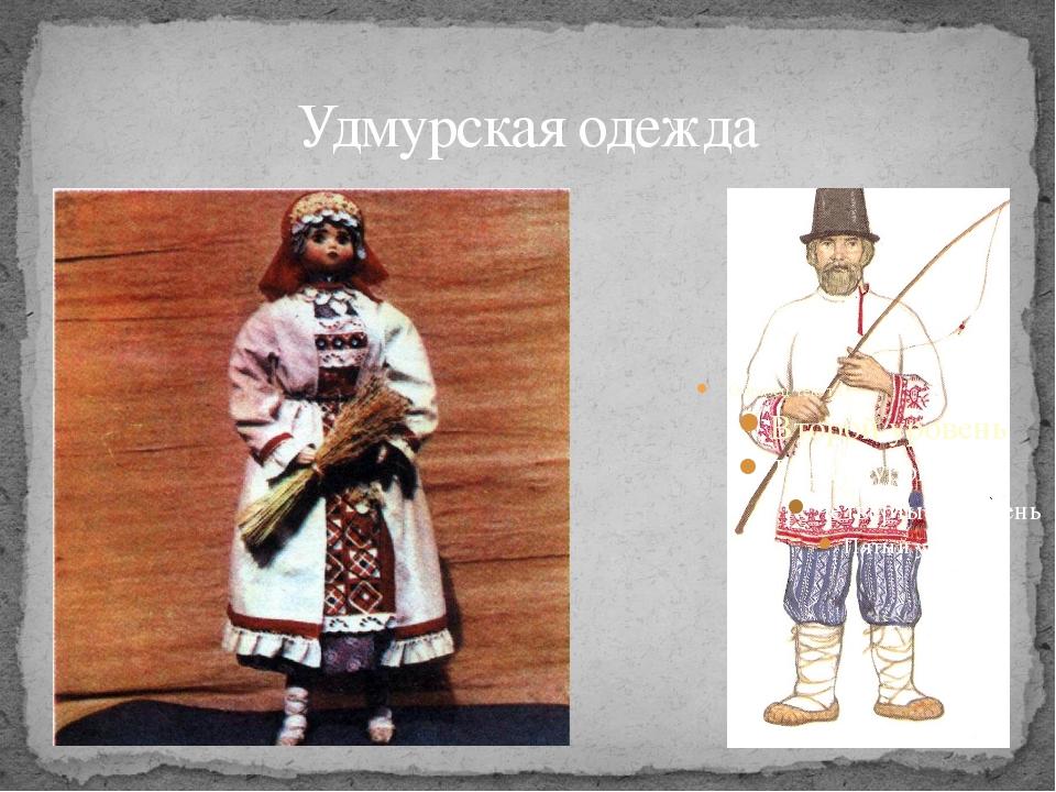 Удмурская одежда