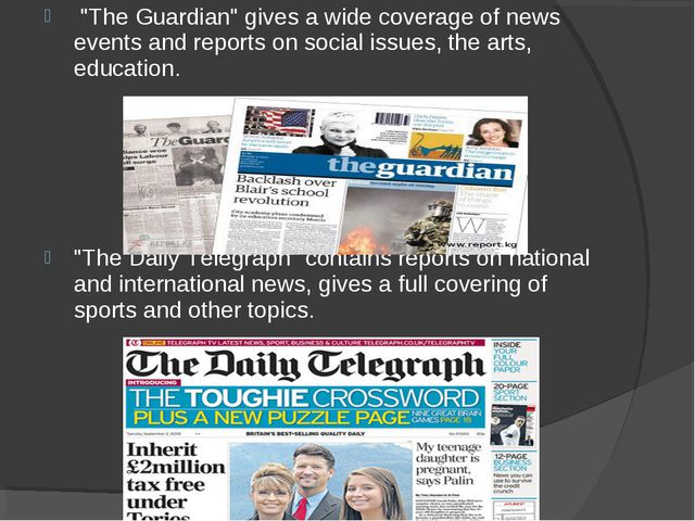 """The Guardian"" gives a wide coverage of news events and reports on social is..."