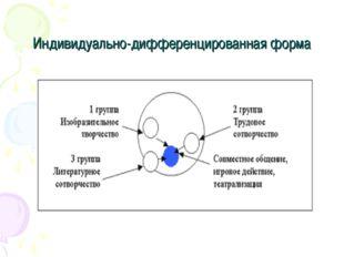 Индивидуально-дифференцированная форма