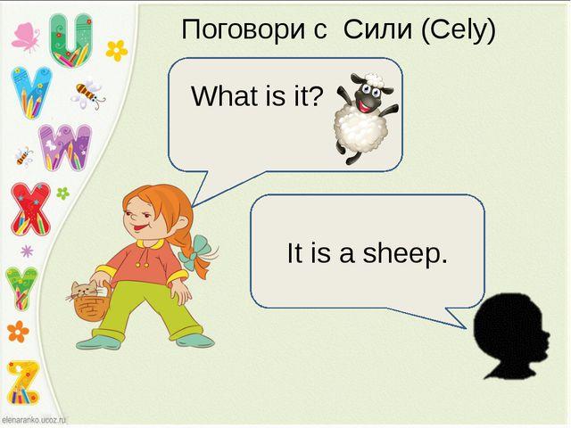 Поговори с Сили (Cely) What is it? It is a sheep.