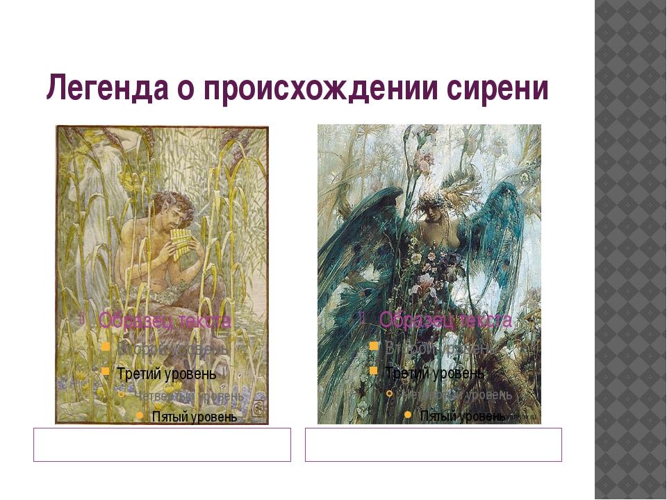 Легенда о происхождении сирени Пан Сиринга