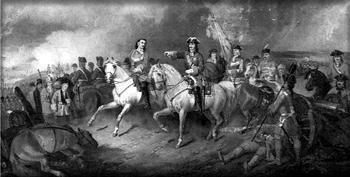Б.П. Виллевальде. «Полтавская битва». Фрагмент
