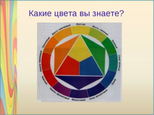Какие цвета вы знаете?