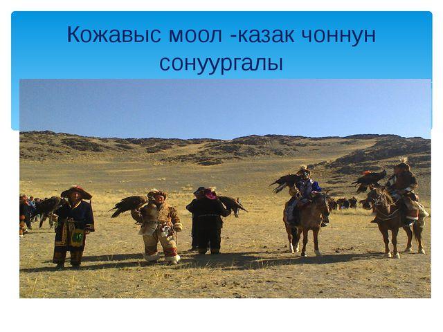 Кожавыс моол -казак чоннун сонуургалы