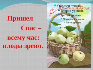 Пришел Спас – всему час: плоды зреют.