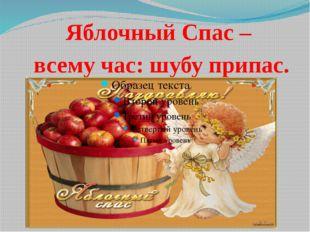 Яблочный Спас – всему час: шубу припас.