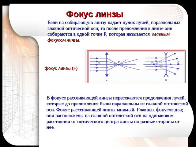 Если на собирающую линзу падает пучок лучей, параллельных главной оптической...