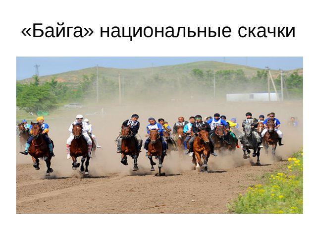 «Байга» национальные скачки