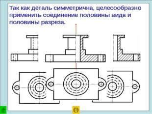 Проанализируем форму детали – тела вращения. Ось симметрии расположена гориз