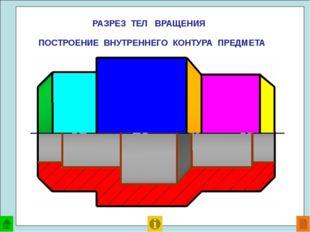 Ось симметрии Половина вида Половина разреза