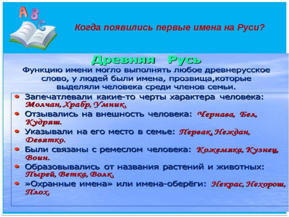 Когда появились первые имена на Руси?