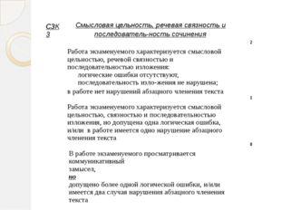 С3К3 Смысловая цельность, речевая связность и последовательность сочинения Р