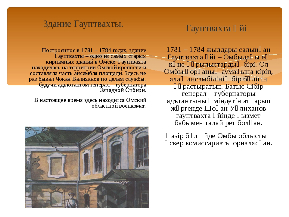 Здание Гауптвахты. Построенное в 1781 – 1784 годах, здание Гауптвахты – одно...