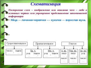 Построение схем – изображение или описание чего – либо в основных чертах или