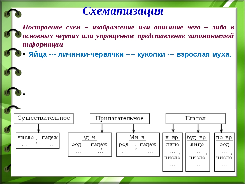 Построение схем – изображение или описание чего – либо в основных чертах или...