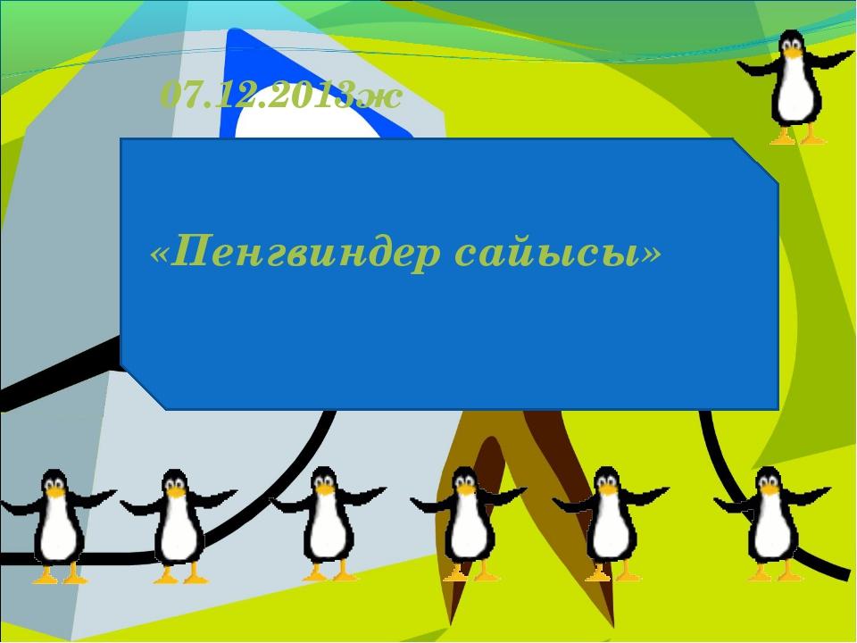 Пингвиндер сайысы 07.12.2013ж «Пенгвиндер сайысы»