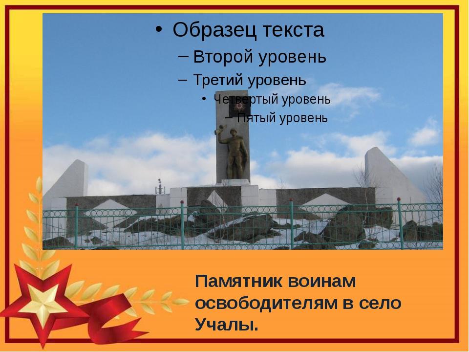 Памятник воинам освободителям в село Учалы.