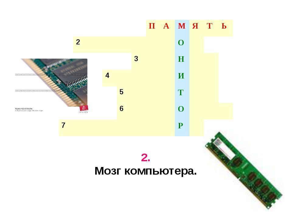 2. Мозг компьютера. ПАМЯТЬ 2О 3Н 4И...