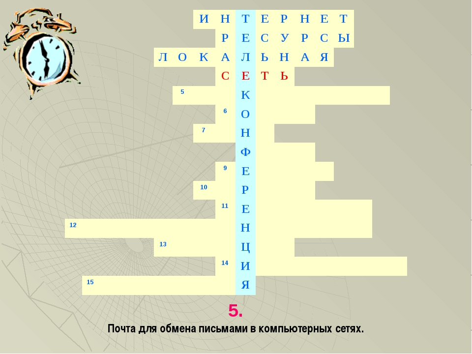 5. Почта для обмена письмами в компьютерных сетях. ИНТЕРНЕТ...