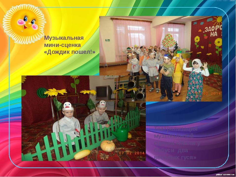 Театрализация музыкальной сценки «Жили у бабуси два веселых гуся» Музыкальная...