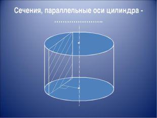Сечения, параллельные оси цилиндра - …………………..