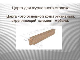 Царга для журналного столика Царга - это основной конструктивный, скрепляющий