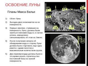 ОСВОЕНИЕ ЛУНЫ Облет Луны Высадка двух космонавтов на ее поверхности. Первые з