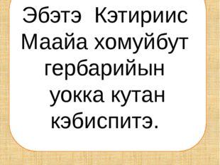 Люба маамата Ирина Егоровнаҕа кыыһыгар отон көрдөһө кэлбитэ.