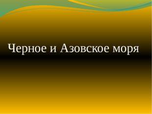Черное и Азовское моря