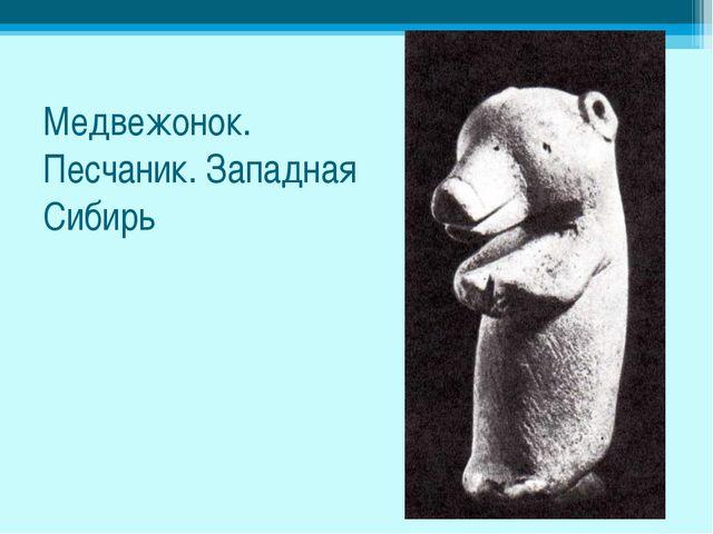 Медвежонок. Песчаник. Западная Сибирь