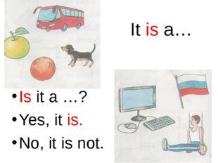 Is it a …? Yes, it is. No, it is not. It is a…