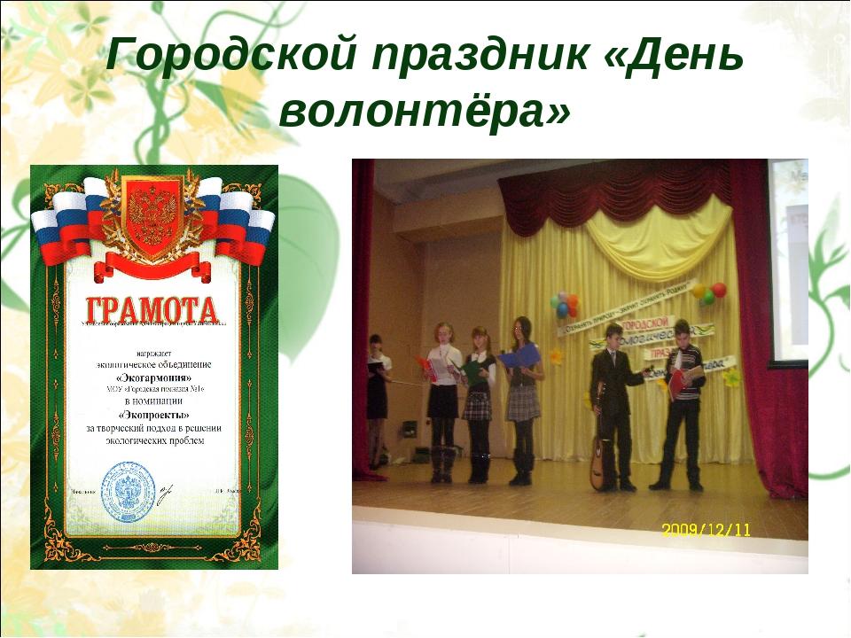 Городской праздник «День волонтёра»