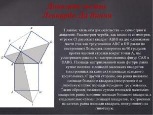 Главные элементы доказательства — симметрия и движение. Рассмотрим чертёж, ка