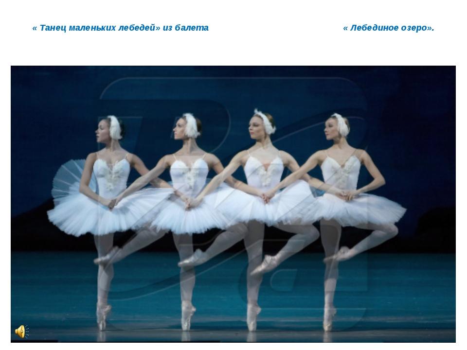 « Танец маленьких лебедей» из балета « Лебединое озеро».