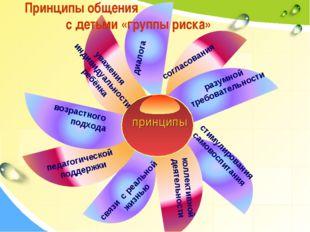 Принципы общения с детьми «группы риска» коллективной деятельности диалога со