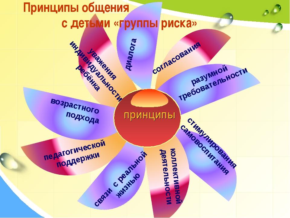 Принципы общения с детьми «группы риска» коллективной деятельности диалога со...