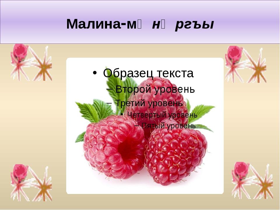 Малина-мӕнӕргъы